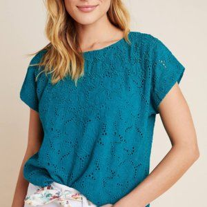 NWT Anthropologie Karine Beaded Lace Top Size 10